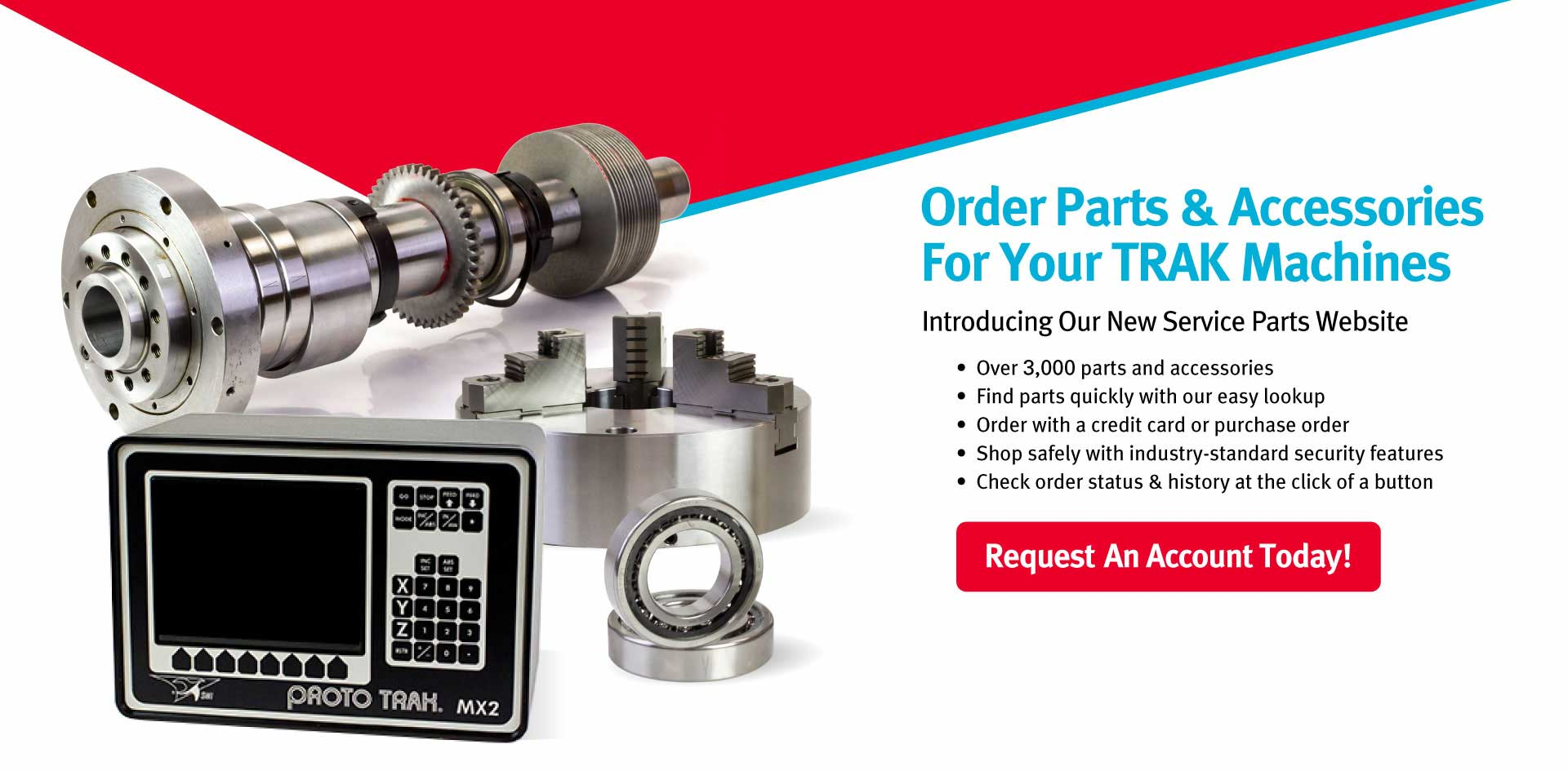 Service Parts and Accessories for TRAK and ProtoTRAK equipment