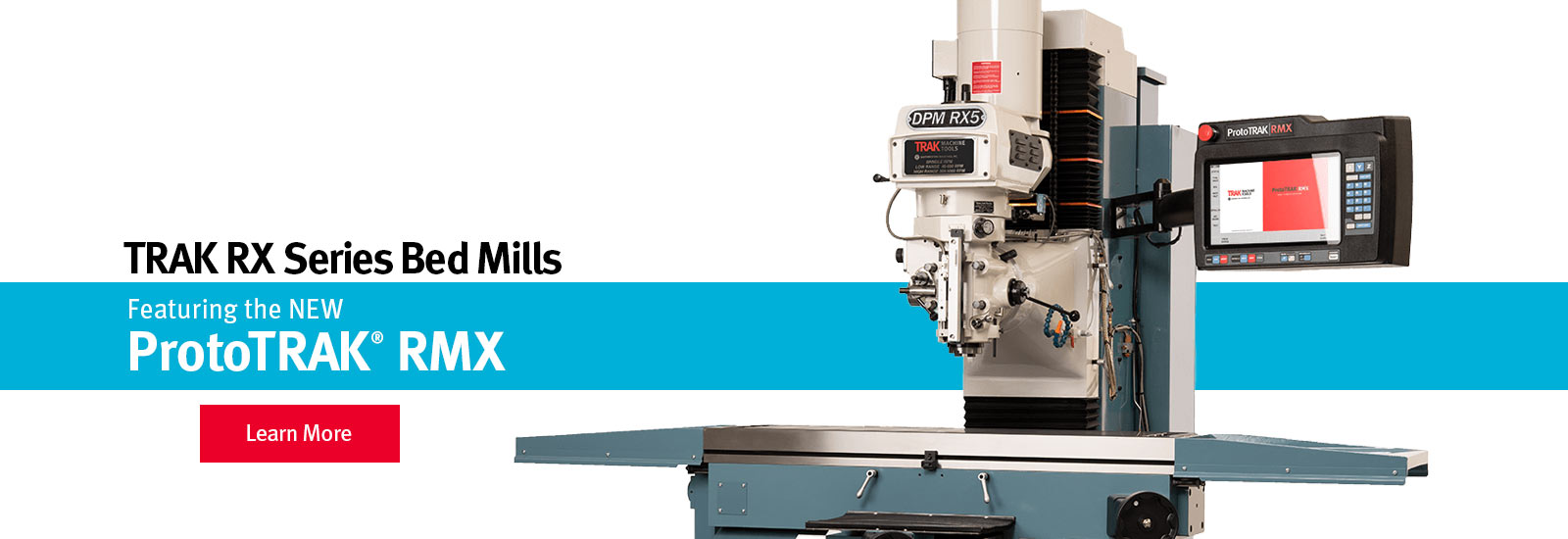 TRAK DPMRX Bed Mills featuring the ProtoTRAK RMX CNC