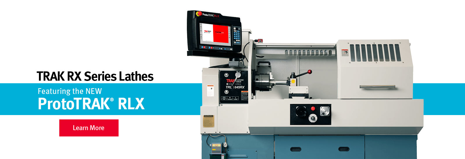 TRAK TRLRX Toolroom Lathes featuring the ProtoTRAK RLX CNC