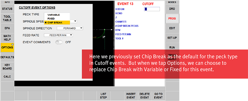 ProtoTRAK RMX CNC Customizable Defaults