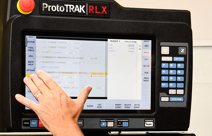 ProtoTRAK RLX CNC Editing On-The-Fly Example 2