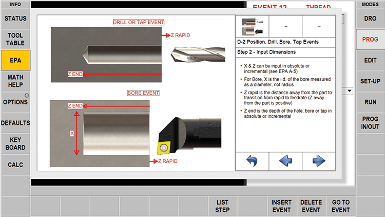 ProtoTRAK RLX CNC Enhanced ProtoTRAK Assistance - Bulleted Instructions