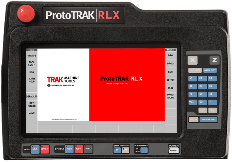The ProtoTRAK RLX CNC for the 30120RX Lathe