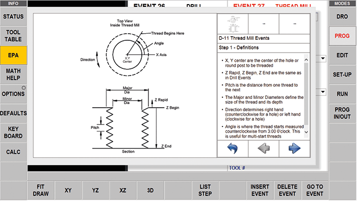 ProtoTRAK RMX CNC Enhanced ProtoTRAK Assistance - Diagrams