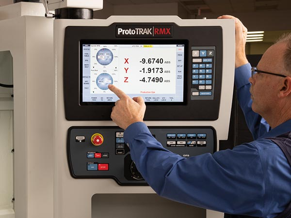 Touchscreen - ProtoTRAK RMX CNC on a TRAK Toolroom Machining Center