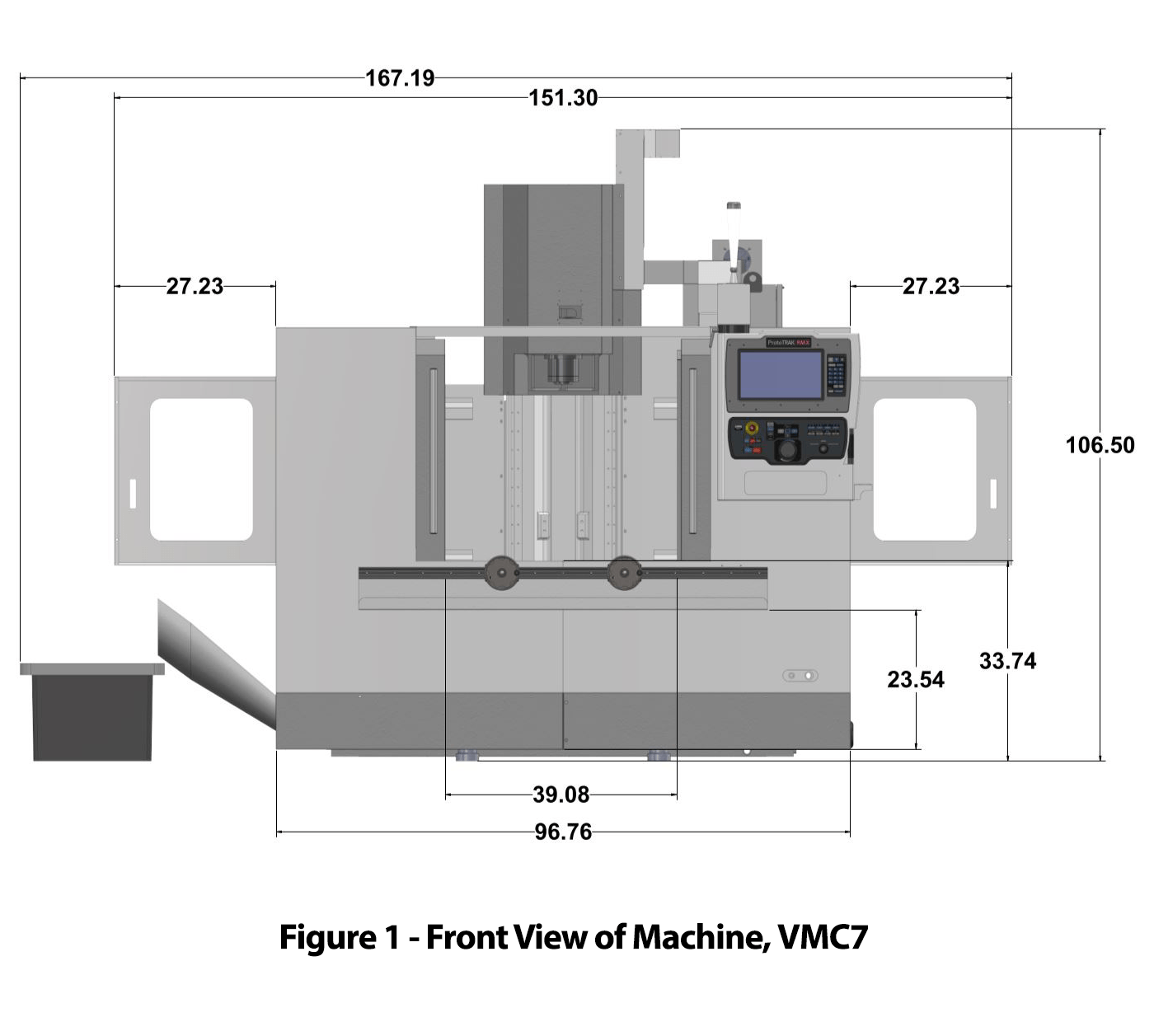 TRAK VMC7 Vertical Machining Center - Figure 1