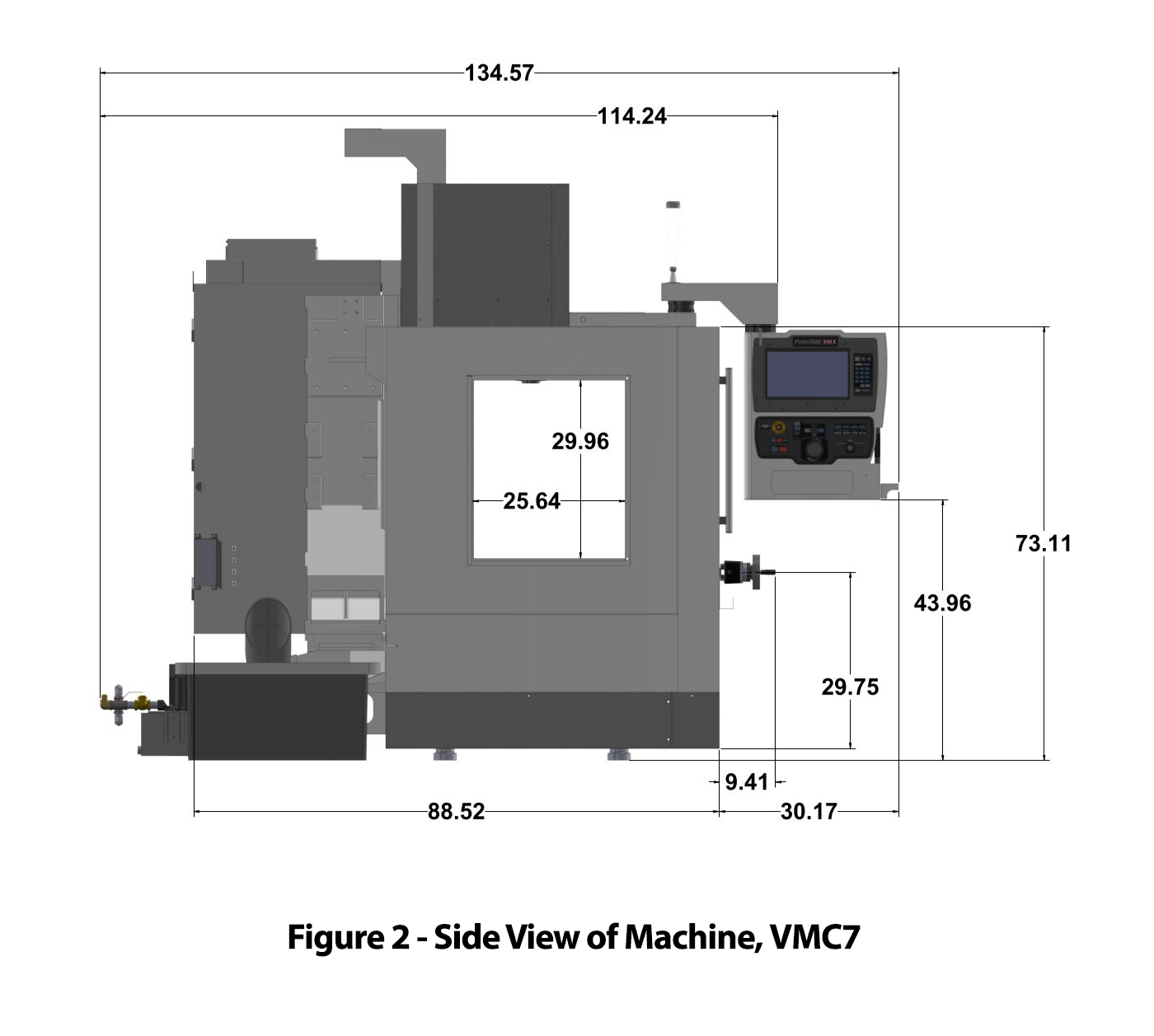 TRAK VMC7 Vertical Machining Center - Figure 2